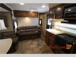 Kick back, relax and enjoy in the Freedom Express travel trailer.