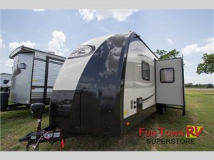 The Forest River Vibe Xtreme Lite travel trailer.