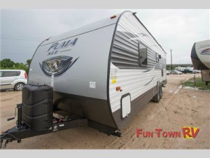 The Palomino Puma XLE travel trailer.