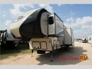 The Forest River Sandpiper fifth wheel.