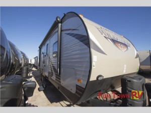 The Forest River Wildwood travel trailer.