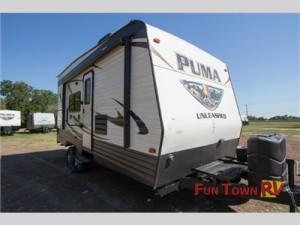 The Palomino Puma Unleashed toy hauler travel trailer.