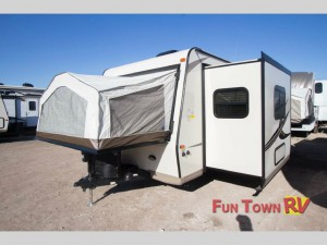 The Forest River RV Rockwood Roo travel trailer.
