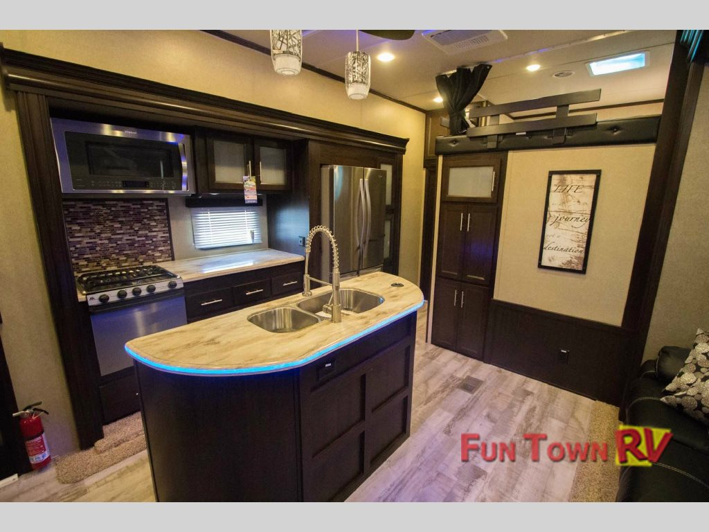 Forest River XLR Thunderbolt Toy Hauler Fifth Wheel Kitchen
