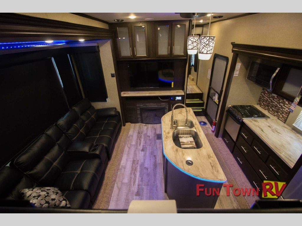 Forest River XLR Thunderbolt Toy Hauler Fifth Wheel Interior