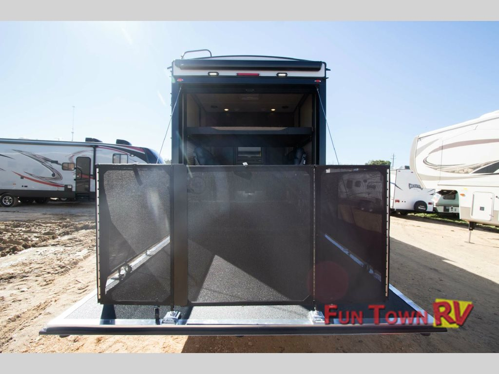 Forest River XLR Thunderbolt Toy Hauler Fifth Wheel Porch