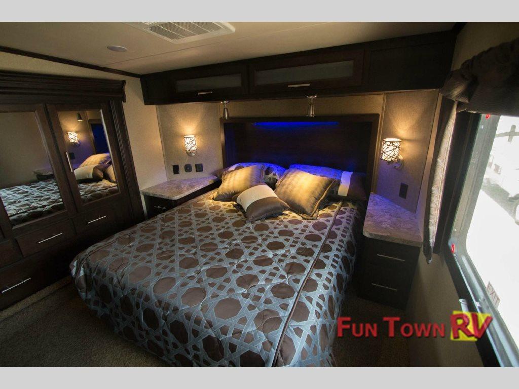 Forest River XLR Thunderbolt Toy Hauler Fifth Wheel Master Bedroom
