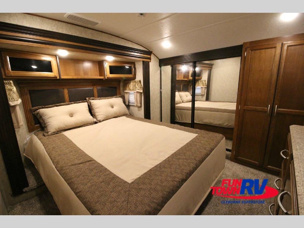 Prime Time Crusader Fifth Wheel Master Bedroom