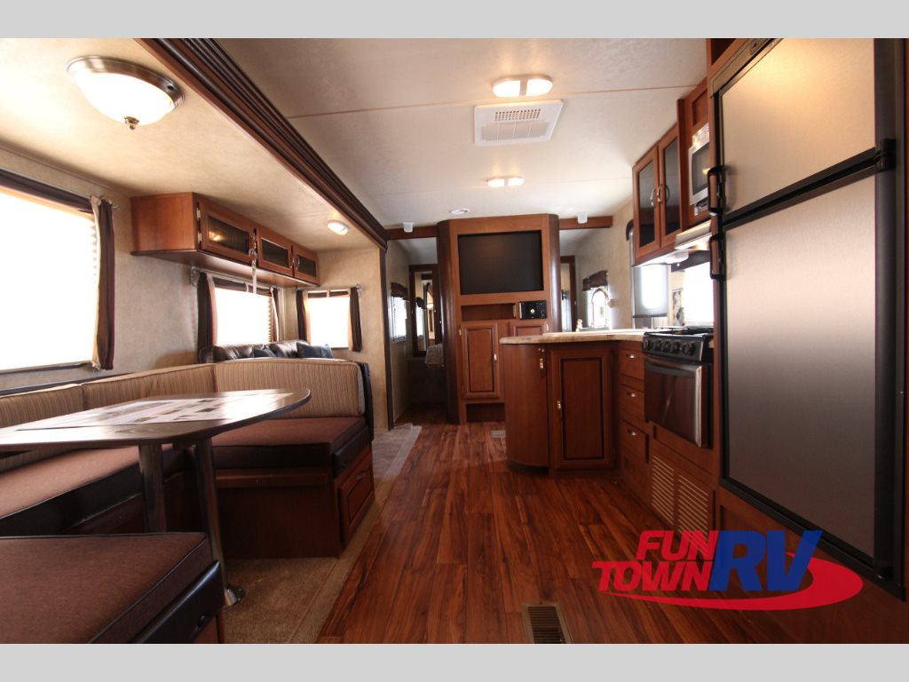Forest River Wildwood 28DBUD Travel Trailer Interior