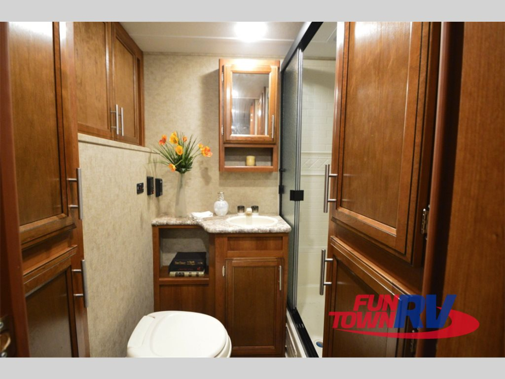 Prime Time Tracer Air Travel Trailer Bathroom