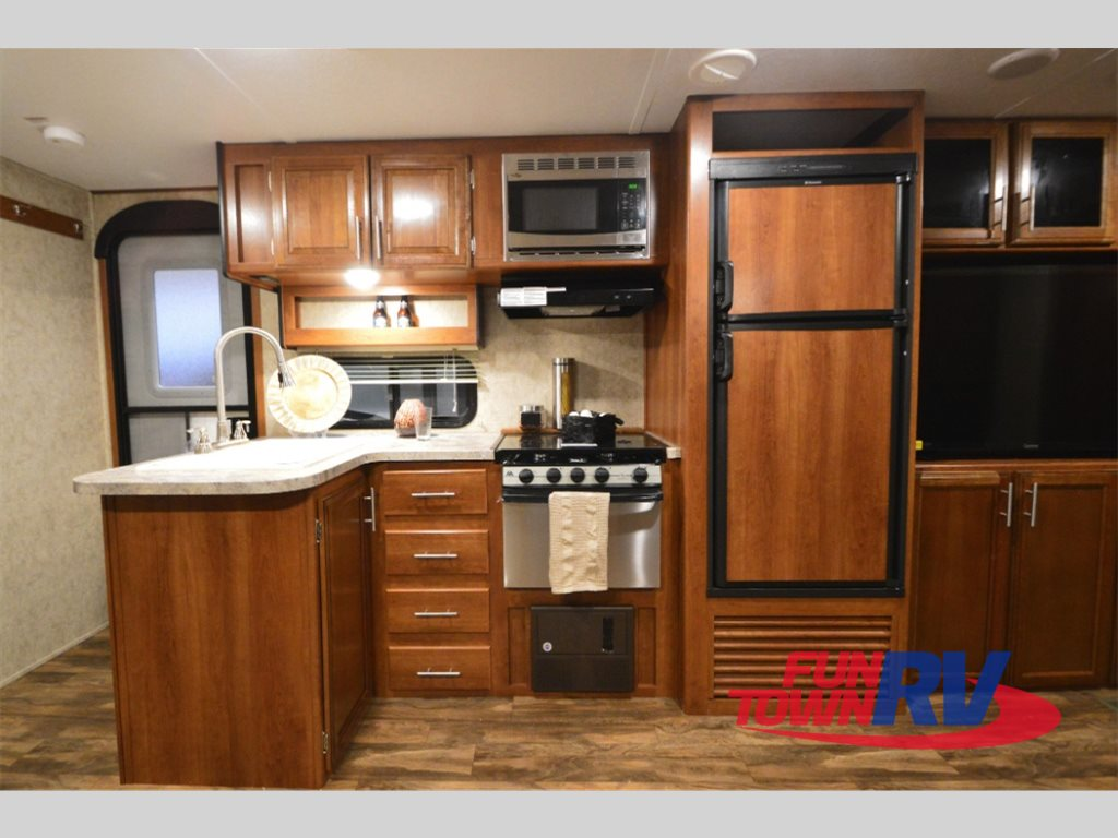 Prime Time Tracer Air Travel Trailer Kitchen
