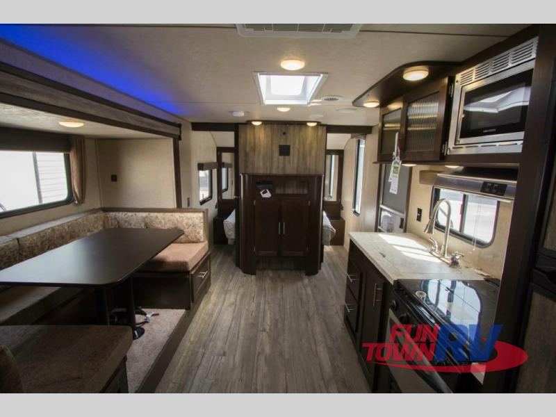 Forest River Cherokee Grey Wolf 23DBH Travel Trailer Living Area
