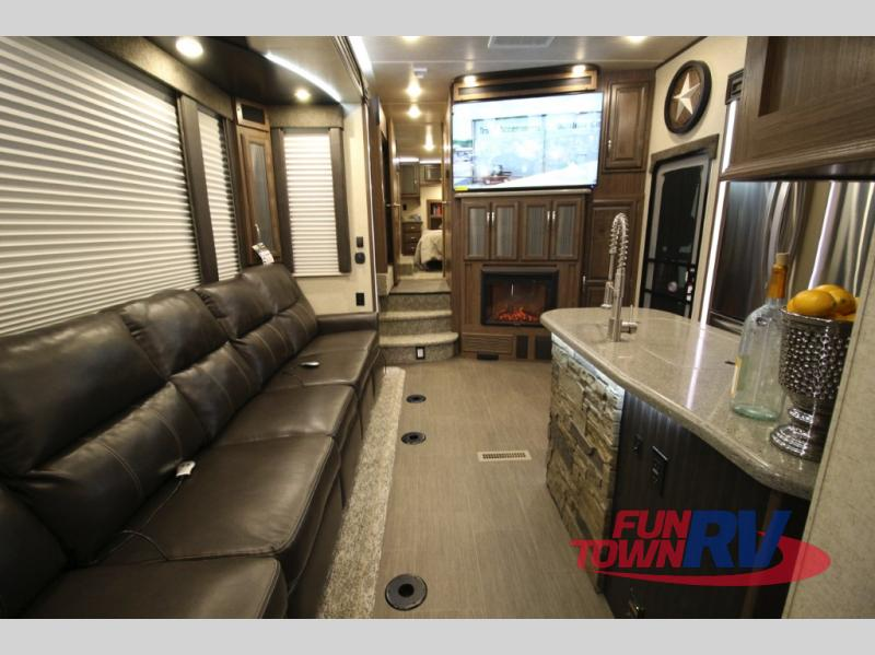 Cruiser Boss Fifth Wheel Toy Hauler Living Area