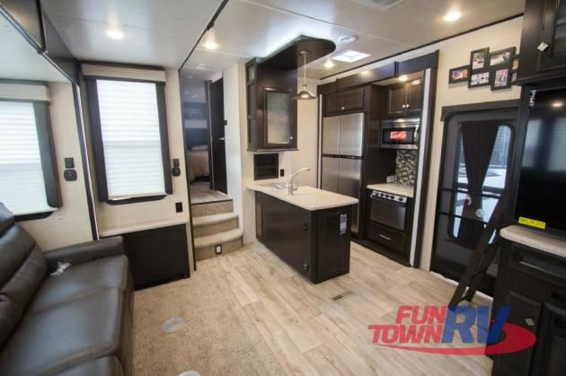 Heartland Road Warrior Fifth Wheel Toy Hauler Kitchen