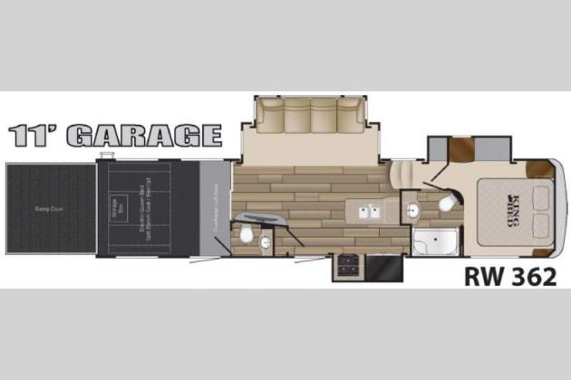 Heartland Road Warrior Fifth Wheel Toy Hauler floorplan