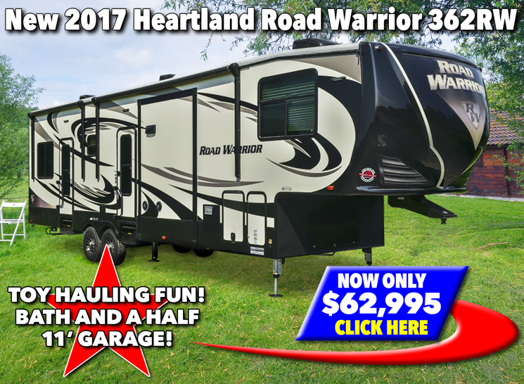 Heartland Road Warrior Fifth Wheel Toy Hauler