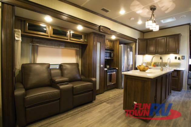 Palomino Columbus Compass Fifth Wheel Kitchen
