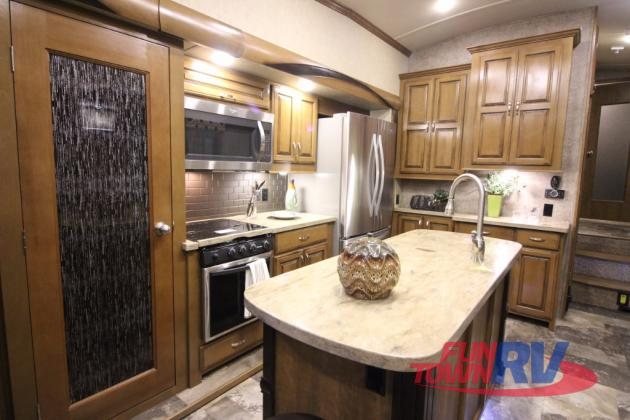 Forest River Cedar Creek Hathaway Edition Fifth Wheel Kitchen