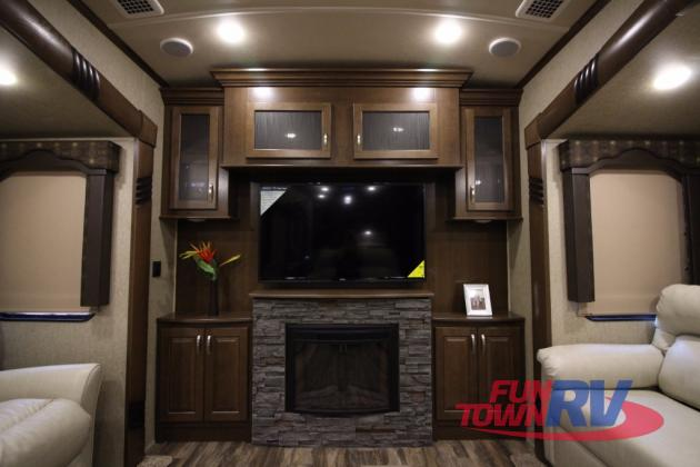 Forest River Cedar Creek Silverback Fifth Wheel Fireplace
