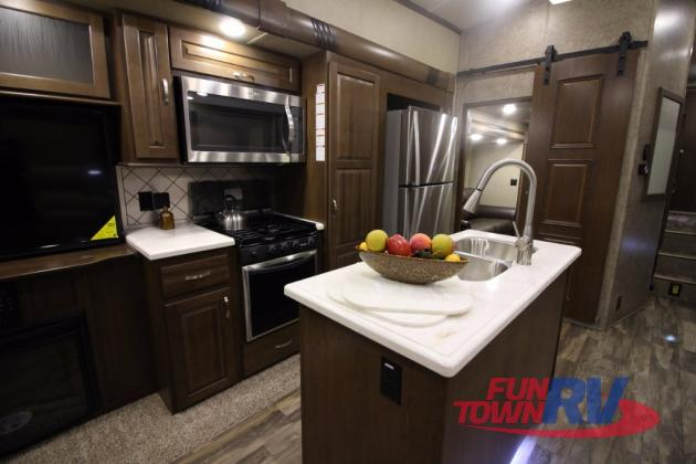 Forest River Cedar Creek Silverback Fifth Wheel Kitchen