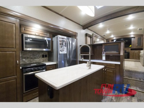 Cedar Creek Silverback 37RTH Toy Hauler Kitchen