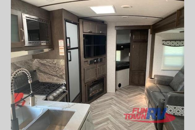 interior of Astoria travel trailer